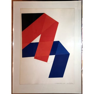 Framed Original Jack Sonnenberg Geometric Print For Sale