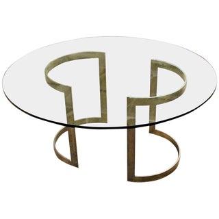 1970s Mid Century Modern Milo Baughman Thayer Coggin Bronze & Glass Dining Table For Sale