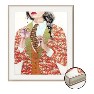Spot Check by Lisa Krannichfeld, Art Print in Grey Acrylic Frame, Large For Sale