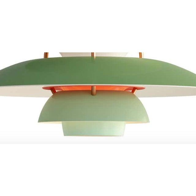 Mid-Century Modern Poul Henningson Green PH5 Mini Pendant for Louis Poulsen For Sale - Image 3 of 4