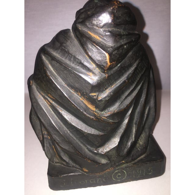 1915 S. Morani Armor Bronze Bookends - a Pair - Image 3 of 10