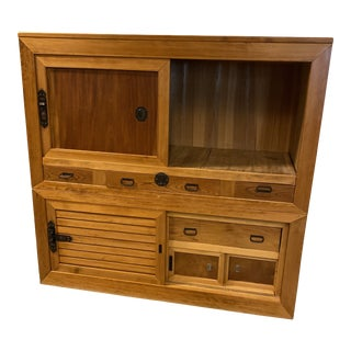 Early 20th Century Japanese 2-Piece Tansu For Sale