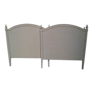 Nordic Style Cream-Colored Twin Headboards - A Pair For Sale