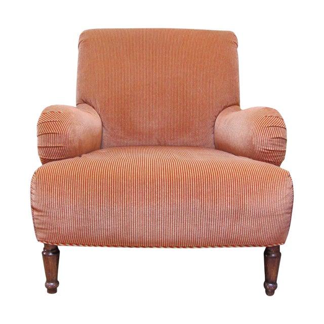 A. Rudin Velvet Stripe Lounge Chair - Image 1 of 9
