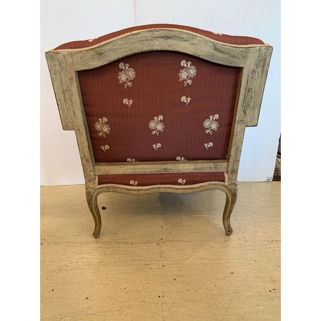 Wood Gorgeous French Louis XV Club Chair Dressed Up in Rose Tarlow Fabric For Sale - Image 7 of 11