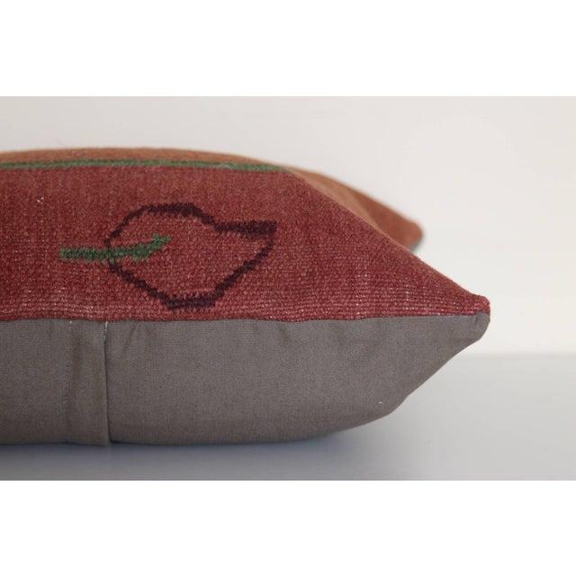 Turkish Kilim Rug Pillow For Sale - Image 4 of 5