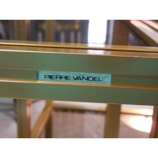 Pair of Brass Ètagerès/Bookcases by Pierre Vandel - Image 4 of 4