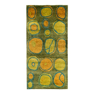 Nepalese Wool and Silk Modernist Area Rug - 3′ × 6′ For Sale