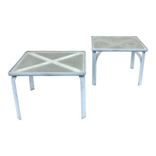 Brown Jordan Quantum Collection White Side Tables - a Pair