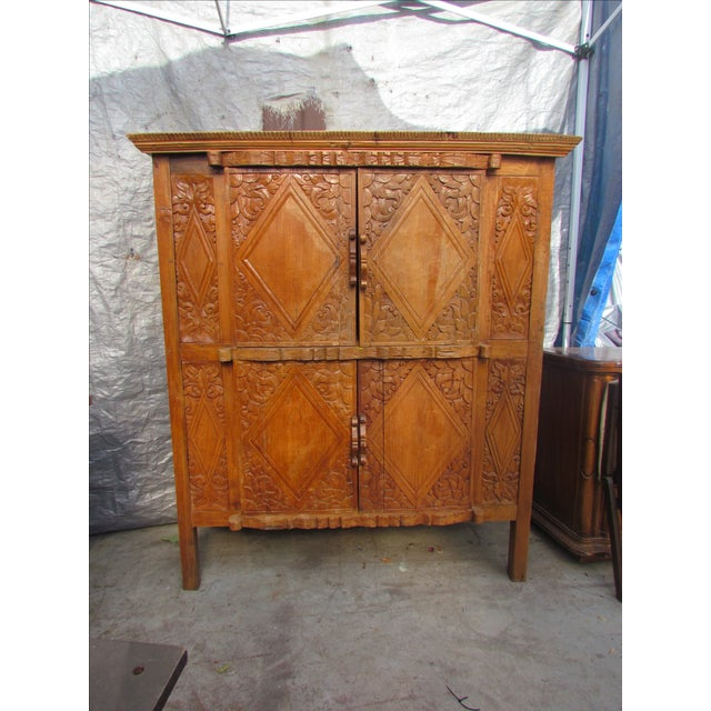 Spanish Carved Armoire - Image 2 of 8
