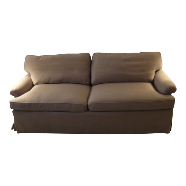 Newly Reupholstered Linen Sofa - Image 1 of 7