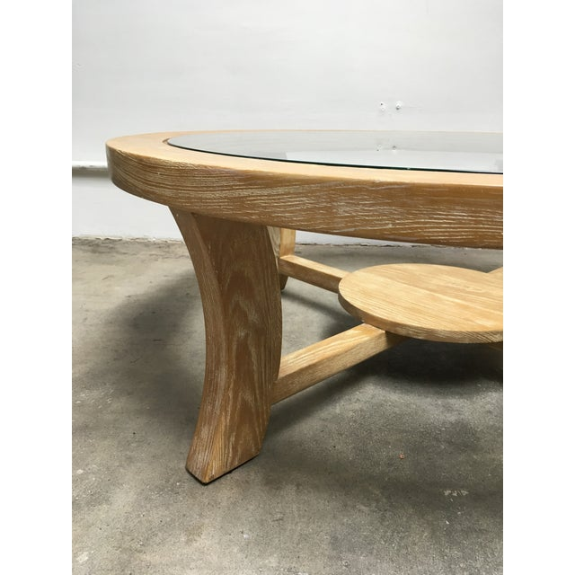 Brown Saltman Paul Frankl for Brown Saltman Cerused Oak Coffee Table For Sale - Image 4 of 12
