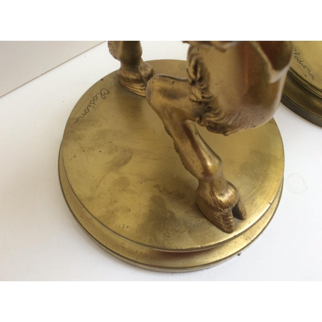 Bronze Figure Candle Holders - A Pair For Sale - Image 10 of 11