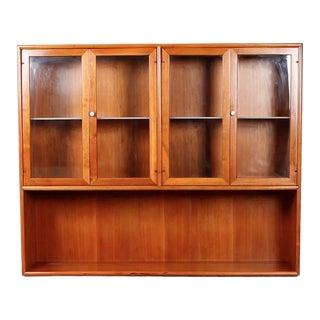 Mid Century Modern Kipp Stewart for Drexel Light Up Cabinet For Sale
