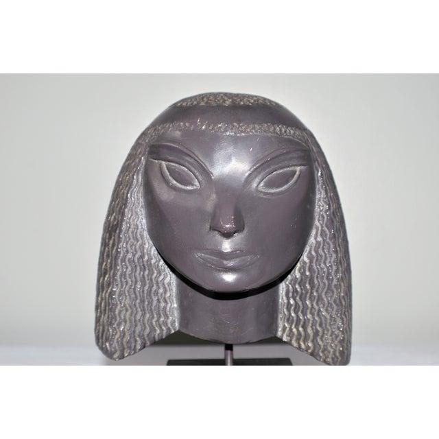 Vintage Fred Press Eygptian Female Sculpture - Image 9 of 10