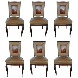 Exceptional Set of 6 Chairs in the Style of Gio Ponti For Sale