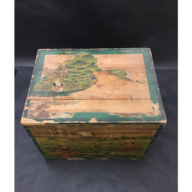 20th Century Japanese Tin Lined Tea Crate For Sale In Washington DC - Image 6 of 8