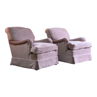Howard & Sons Bridgewater Armchairs Matching Deep Seated 2014 Number 4 - A Pair For Sale
