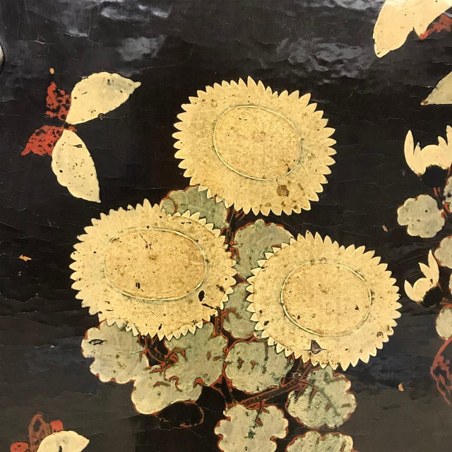 Black Pair of 19th Century Chinese Painted Cabinets For Sale - Image 8 of 11