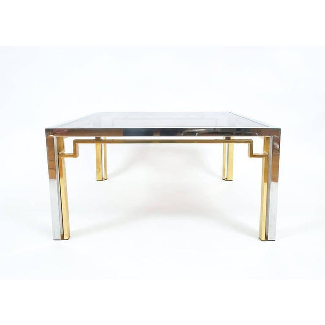 Italian Exquisite Double-Frame Coffee Table Attributed to Romeo Rega For Sale - Image 3 of 9
