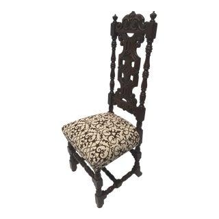 Flocked Velvet Spanish Revival Chair