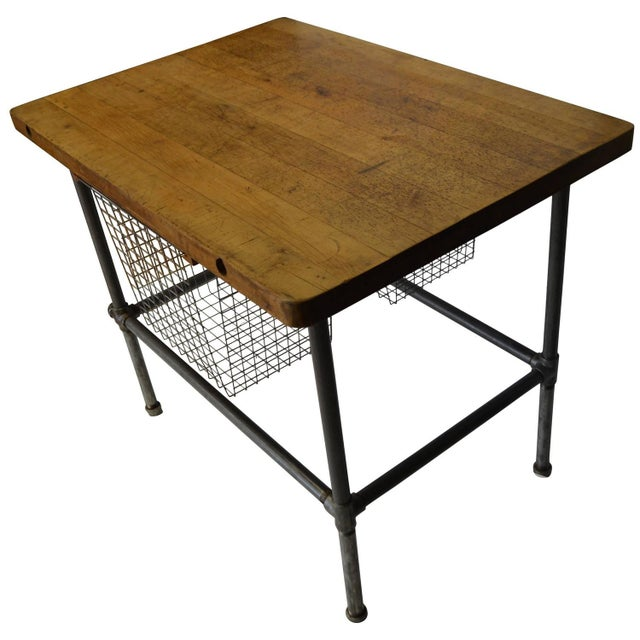 Maple Top Kitchen Island with Sliding Baskets - Image 1 of 9