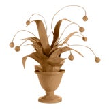 Image of Stray Dog Designs for Chairish Crunchberry Faux Plant, Camel For Sale