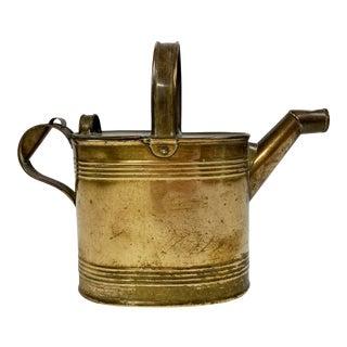 English Brass Watering Can For Sale
