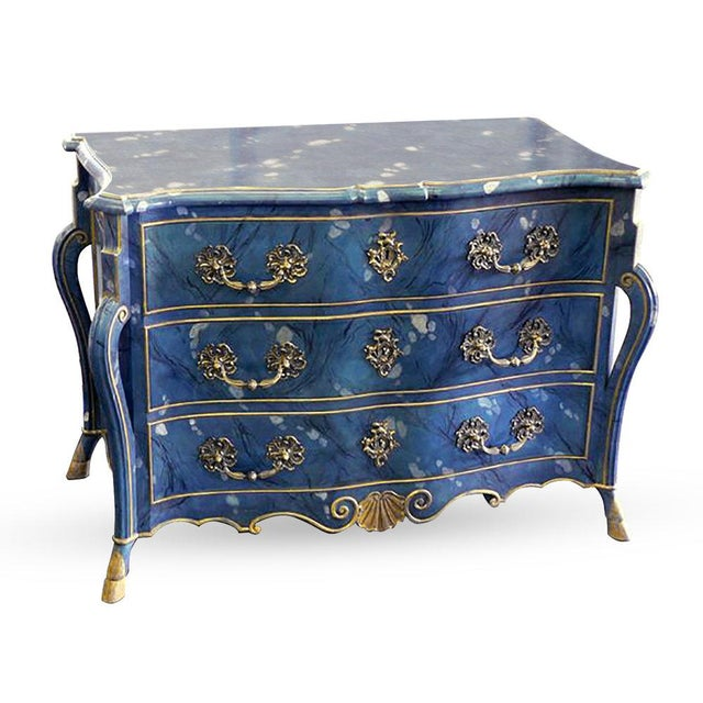Hollywood Regency Unusual Southern French Commode For Sale - Image 3 of 3