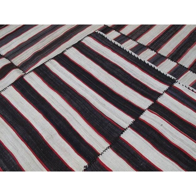 Red Small Mazanderan Kilim For Sale - Image 8 of 9