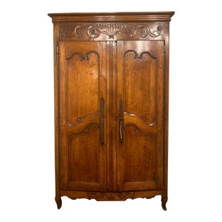 French Wooden Wedding Armoire For Sale
