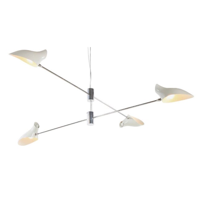 Mid-Century Style David Weeks Large Cross Cable Chandelier For Sale - Image 13 of 13