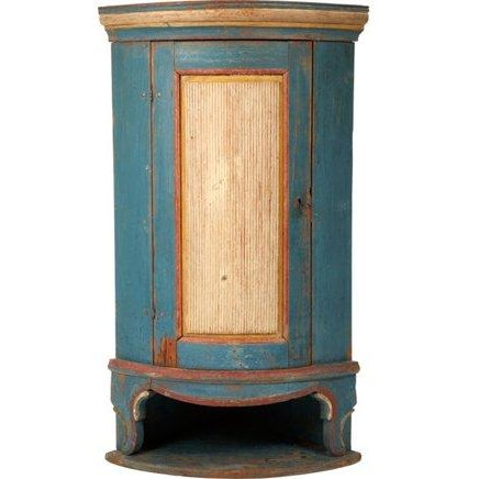 Swedish 18th C. Folk Corner Cupboard - Image 1 of 5