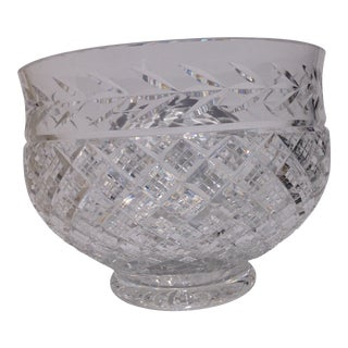 Large Fine Cut Crystal Centerpiece Bowl Waterford (?) For Sale