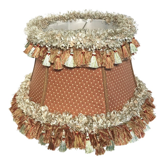 Custom Coral Silk Lampshade For Sale