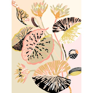 Colour Block Lotus Giclee Print by Sarah Gordon For Sale