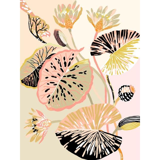 Colour Block Lotus Giclee Print by Sarah Gordon For Sale