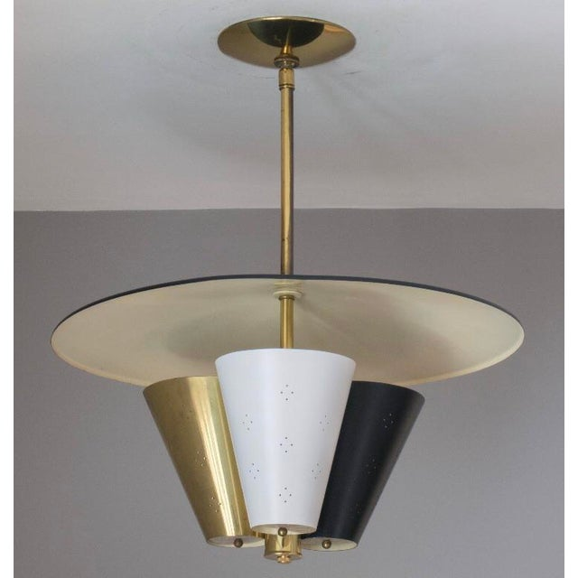 Mid-Century Tricone Reflector Lightolier Fixture For Sale - Image 4 of 4