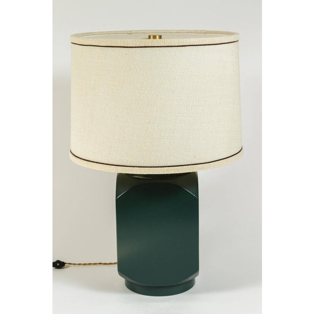 Martin & Brockett Modern Matte Lacquer Lamp For Sale - Image 5 of 5