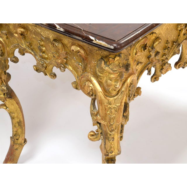 Regency Console in Wood and Marble, French, XVIII Century For Sale - Image 10 of 11