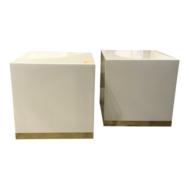 French Lacquered Drink Tables - a Pair For Sale