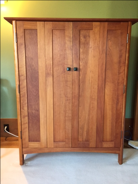 Office Armoire. This Vermont Heartwood Office Armoire Is In Perfect  Condition With The Exception Of