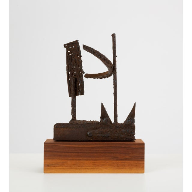 1960s Mounted Brutalist Figurine For Sale - Image 5 of 11