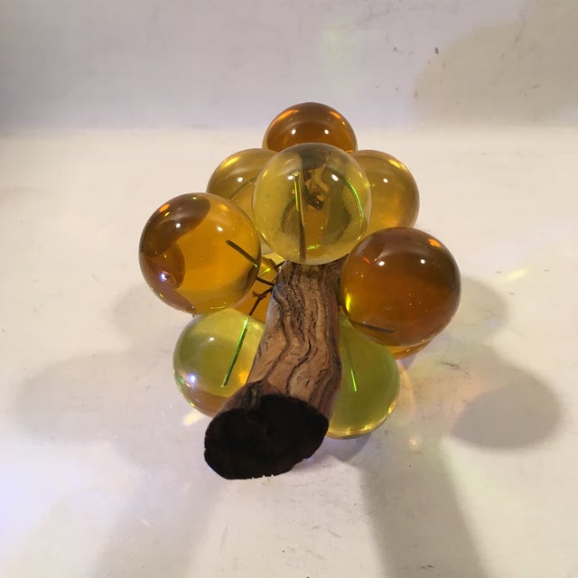 Amber Lucite Grapes - Image 3 of 8