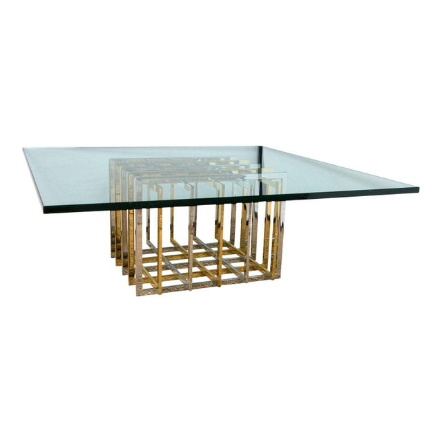 Gold Pierre Cardin Cocktail Table For Sale - Image 8 of 8