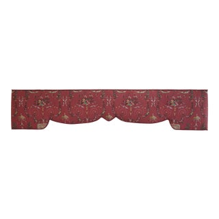 Custom Made Floral Print Box Window Valance
