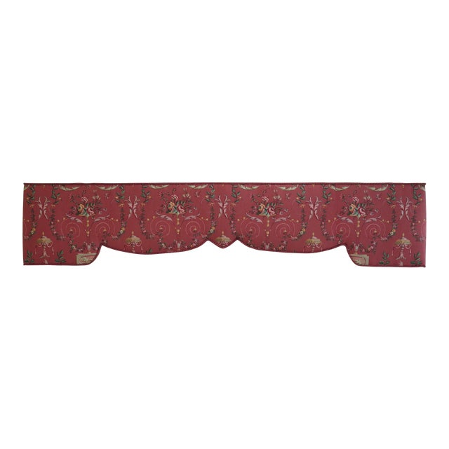 Custom Made Floral Print Box Window Valance For Sale