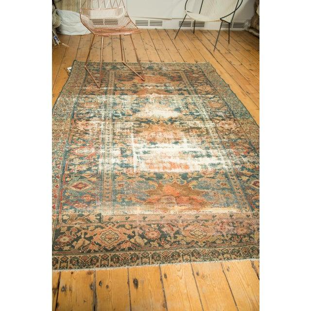 "Distressed Hamadan Carpet - 5'3"" x 7'11"" - Image 6 of 10"