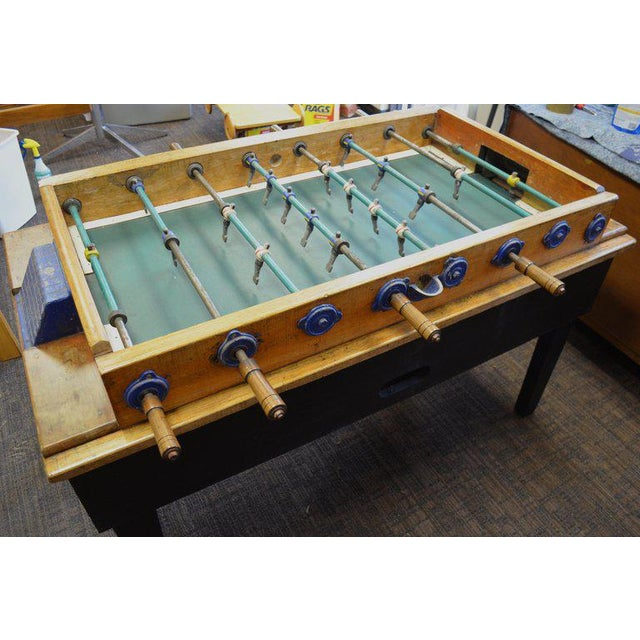 Foosball Game Sports Table From Italy on Handmade Wooden Base; Mid Century For Sale - Image 4 of 13
