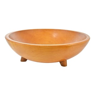 1940s Munising Footed Wood Bowl